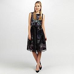 Ariella London - Purple Emarald jenny print lace over short dress