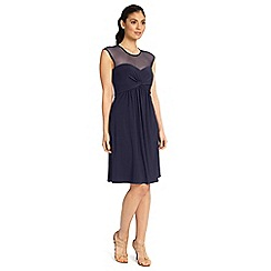 Ariella London - Navy charlie short dress with mesh neckline
