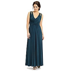 Ariella London - Teal lorraine maxi long dress