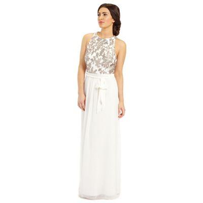 Ariella London Gold kora sequin lace top maxi dress - . -