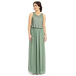 Ariella London - Light green sequined 'Gemini' maxi dress