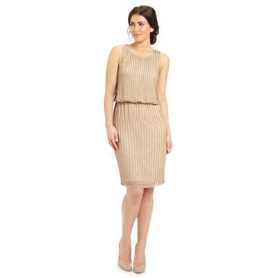 Ariella London Gold rebecca sequin short shift dress - . -