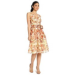 Ariella London - Orange yellow zeta 50's prom short dress