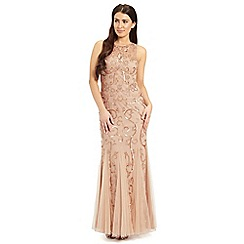 Ariella London - Blush karla sequin & braded evening gown