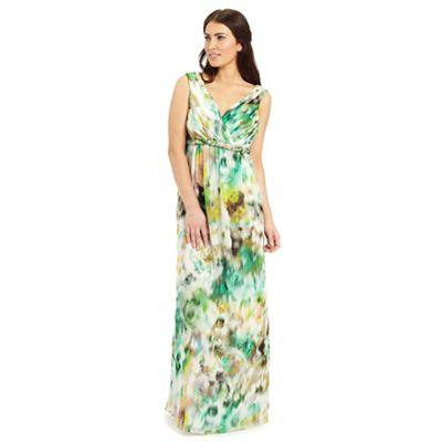 Ariella London Green white yellow kimberley maxi dress - . -
