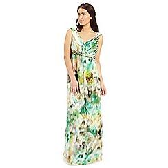 Ariella London - Green white yellow kimberley maxi dress