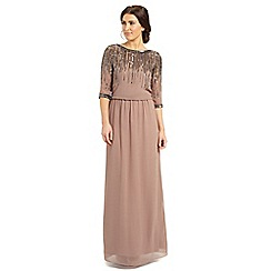 Ariella London - Dusky pink mary embellished neck dress