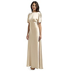 Ariella London - Champagne Anelia Satin Back Crepe Long Dress