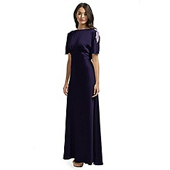 Ariella London - Purple Anelia Satin Back Crepe Long Dress