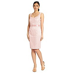 Ariella London - Dusky pink jilly textured sweet heart midi dress