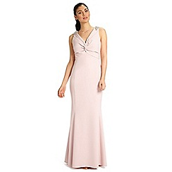 Ariella London - Dusky pink lucia full length twist front dress