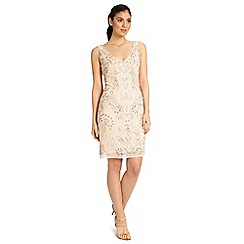 Ariella London - Dusky pink lois sequined short cocktail dress