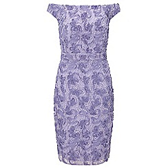 Ariella London - Lavender nora off the shoulder textured midi dress