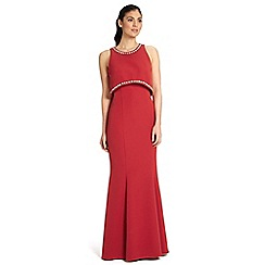 Ariella London - Red naya crop top design dress with beaded trim