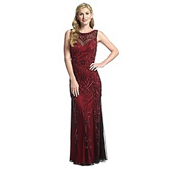 Ariella London - Merlot amya full length beaded evening gown