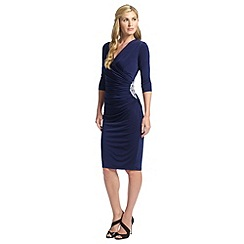 Ariella London - Navy rhoda short wrap dress