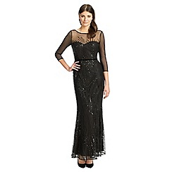 Ariella London - Black sequined 'Amia' evening dress