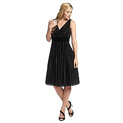 Ariella London - Black pixie velvet stripe prom dress