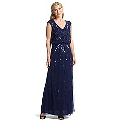 Ariella London - Navy petulia blouson beaded maxi dress