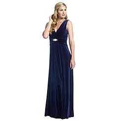Ariella London - Navy milo velvet maxi dress