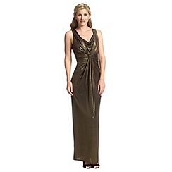 Ariella London - Black gold davina foil jersey maxi dress