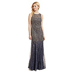 Ariella London - Grey embellished lace 'Winnie' evening dress