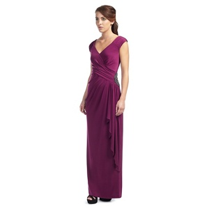 Ariella London Dark purple jersey 'Ray' evening dress