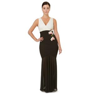 Ariella London Black motif 'Middleton' evening dress