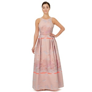 Ariella London Pale pink jacquard 'Bevan' evening dress