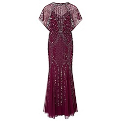 Ariella London - Berry 'Steffy' maxi embellished dress