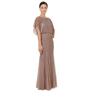 Ariella London Pale pink embellished 'Steffy' evening dress