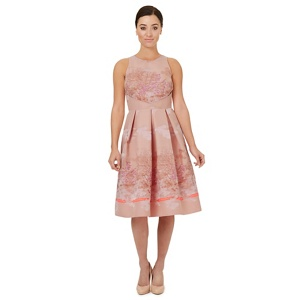 Ariella London Pale pink jacquard 'Caleb' prom dress