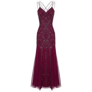 Ariella London Berry 'Perla' maxi embellished dress