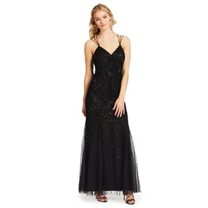 Ariella London Black embellished 'Perla' evening dress