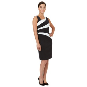 Ariella London Black Panelled 'bobbie' Shift Dress