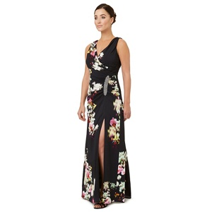 Ariella London Multicoloured print 'Selina' evening dress