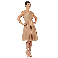 Ariella London - Light gold 'Gracie' bridesmaid dress