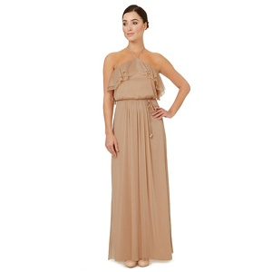 Ariella London Light gold 'Cavalier' bridesmaid dress