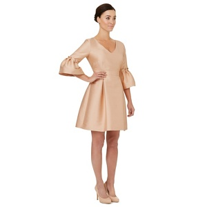 Ariella London Pale pink 'Zaza' puff sleeves dress