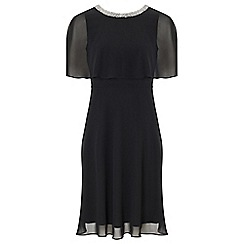 Ariella London - Black 'Harmony' chiffon fit and flare dress