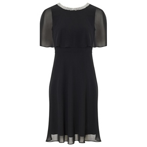 Ariella London Black 'Harmony' chiffon fit and flare dress