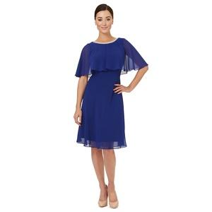 Plus Size Ariella London Royal Blue Chiffon 'harmony' Cape Dress