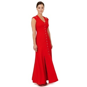 Plus Size Ariella London Bright Red 'flavia' Evening Dress