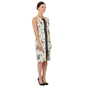 Ariella London Black zip detail 'North' shift dress