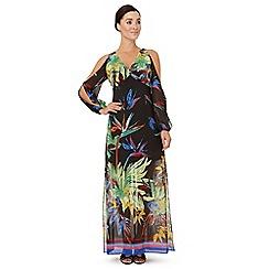 Ariella London - Multicoloured 'Rosey' slit sleeves dress