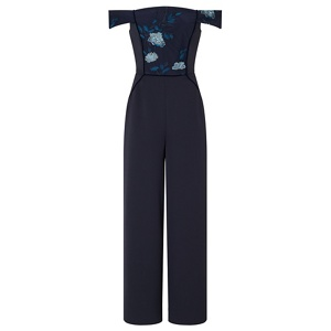Ariella London Navy 'Danae' strapless jumpsuit