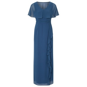 Ariella London Blue 'Amaris' chiffon cape maxi dress