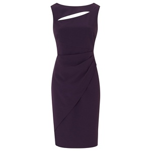 Ariella London Purple 'Pia' rose gold zip shift dress