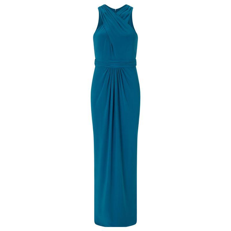 Ariella London - Teal 'Amberley' Halter Jersey Maxi Dress