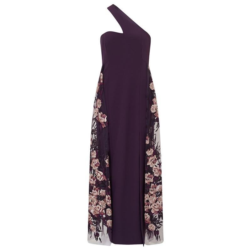 cf9959c0eee Ariella London Purple  Lexili  one shoulder maxi dress